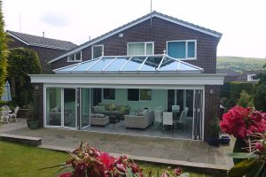 Brick pillar orangery with glass roof