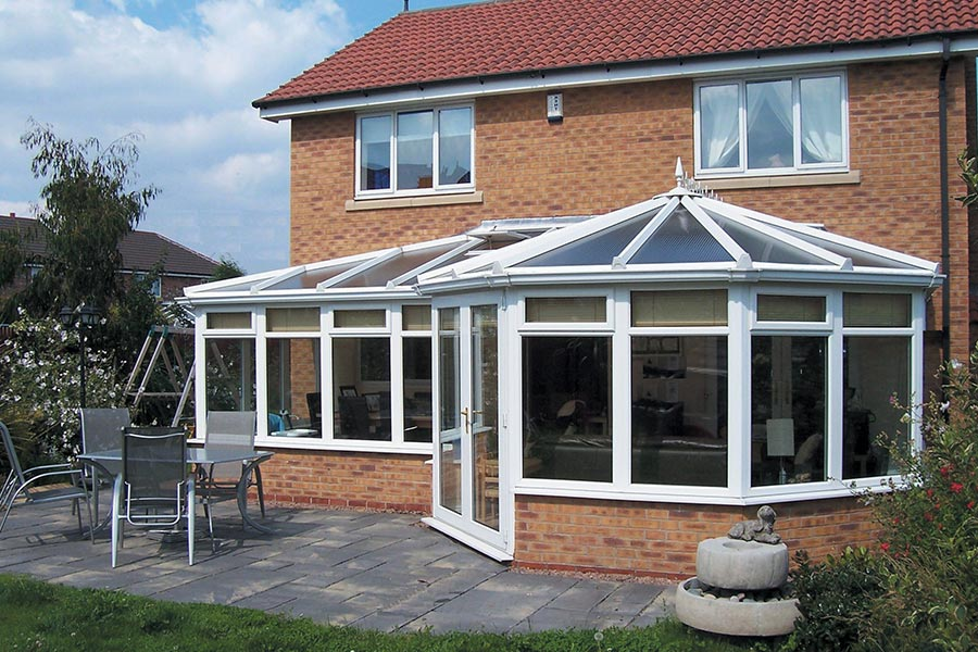 Conservatory installation with bespoke combination layout