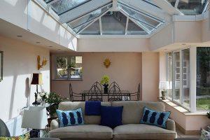 Internal view of summer house/garden room