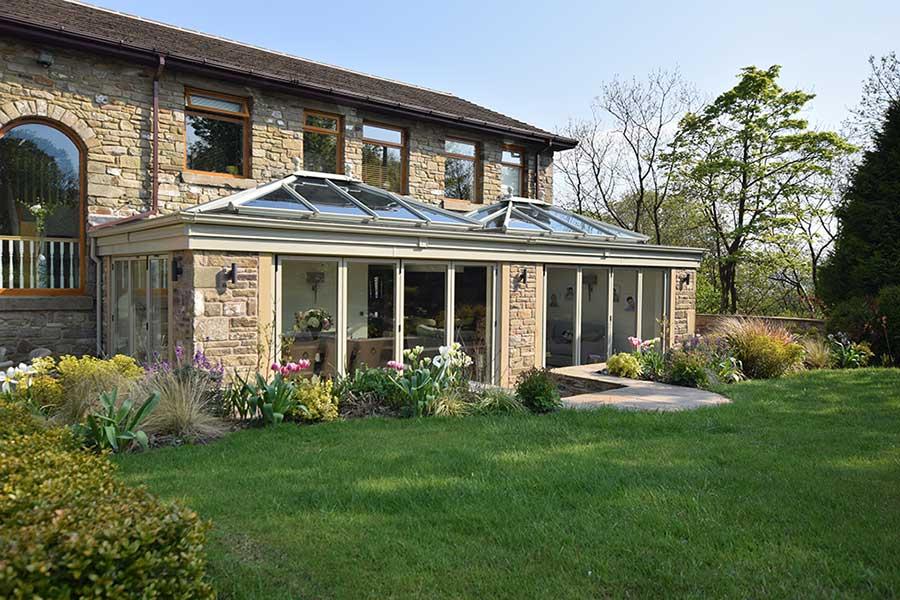 Large glazed orangery style extension