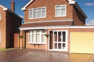 Brick porch with uPVC sliding door