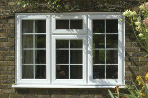 Casement window with georgian bars